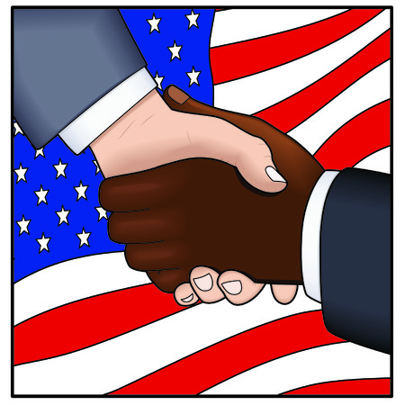 formal signature: Inspirational handshake Illustration