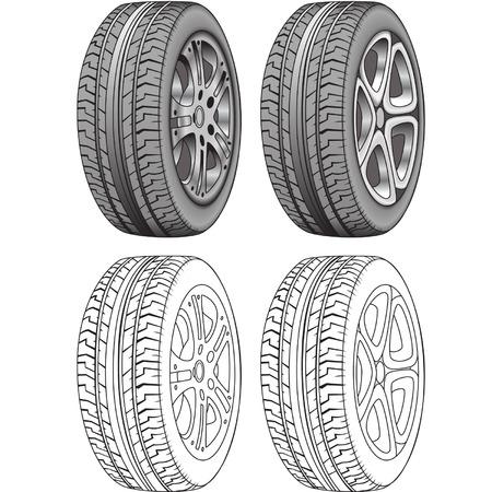 cerchione: Rendered Illustrator e Lineamenti di Tires