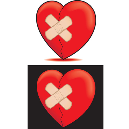 bandaged Heart Vector