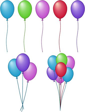 A variety of Balloons