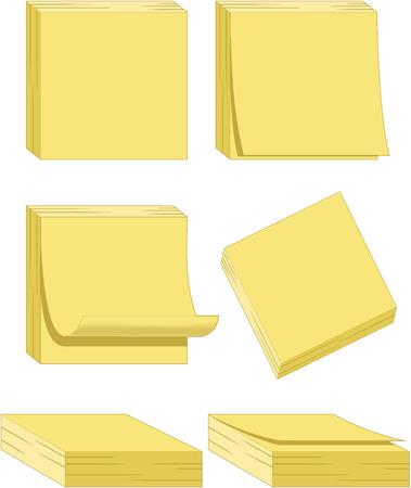 Yellow Notes Illustration