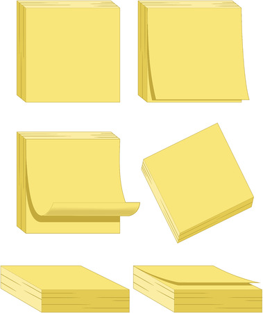 Yellow Notes Illustration