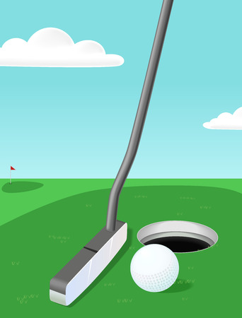 Golf Hintergrund Illustration