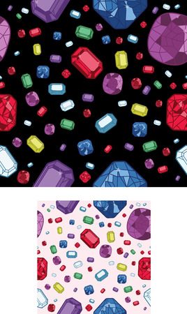 2 Seamless jewel Background Illustration