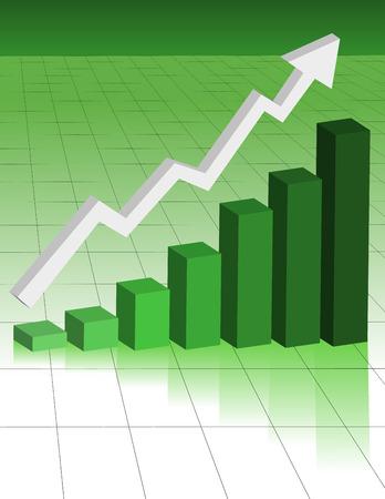 Negocio verde Gráfico Foto de archivo - 4576773