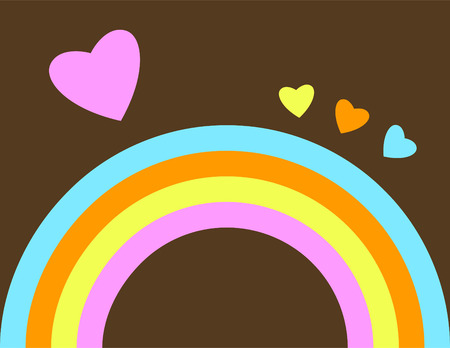 Retro Abstract Rainbow Background