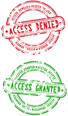 Rubber Stamps - access denied and granted Stock Vector - 4576780