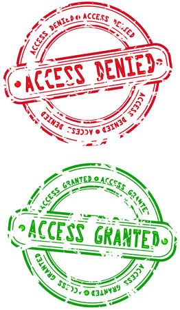 toegangscontrole: Zelfinktende stempels - toegang ontzegd en toegekend