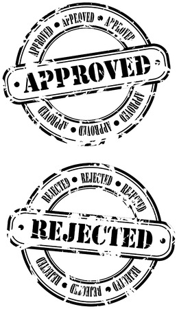 Rubber Stamps - approved and rejected Vector