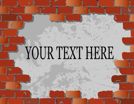 Brick Wall with copy space Stock Vector - 9823430