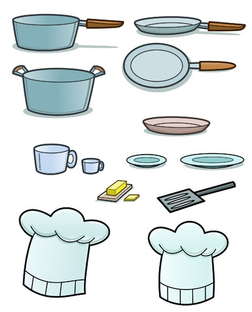 implements: kitchen utensils Illustration