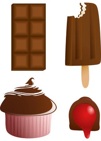 cupcake illustration: chocolates