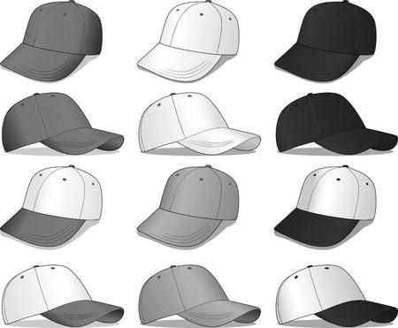 baseball caps Vectores