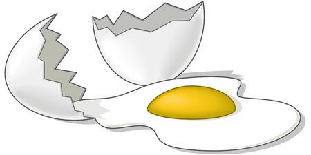 esporre: Uovo rotto - illustrazione vettoriale  Vettoriali