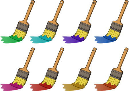 Paintbrush - vector illustration set
