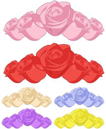 Rose Design - vector illustration set Illustration