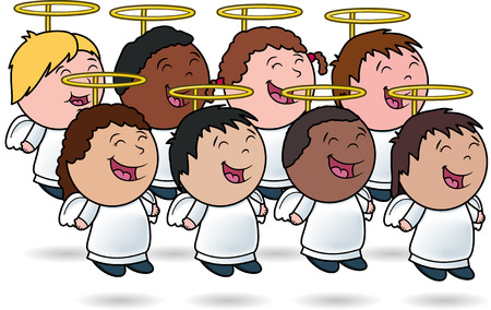 multicultural group: Angelic Kids Choir