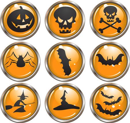 Halloween Icons - vector buttons Vector