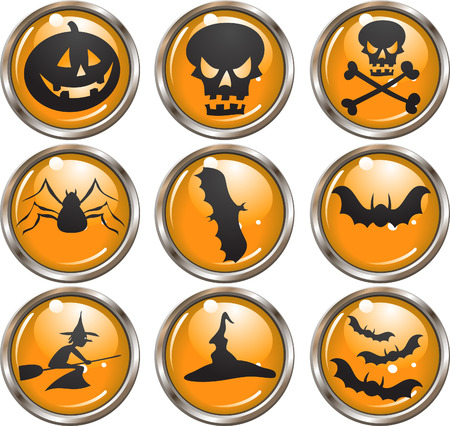 Halloween Icons - vector buttons
