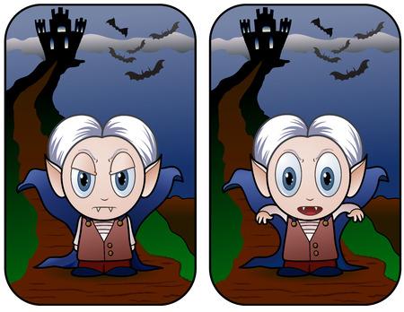 Vampire Kid Banner - vector illustration Stock Vector - 5627699