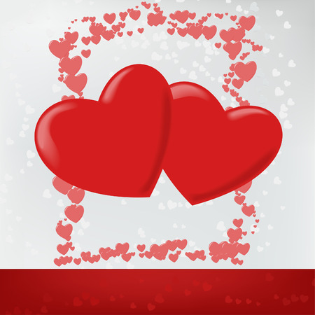 This is a vector illustration of a Valentines Day Background. Illustration