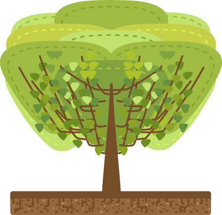 Tree in ground - illustration