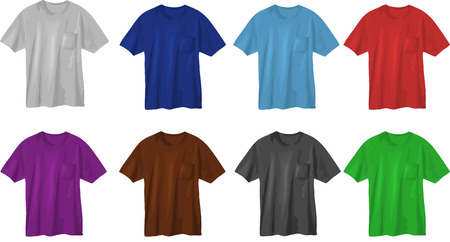 Set of t-shirt designs