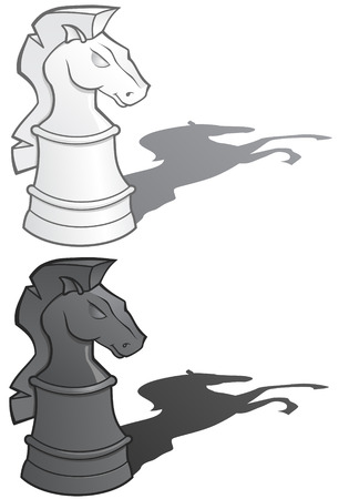 Knight Chess Pieces illustration Vettoriali