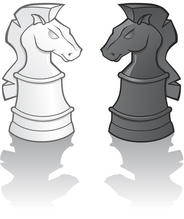 Knight Chess Pieces  illustration Stock Vector - 6253183