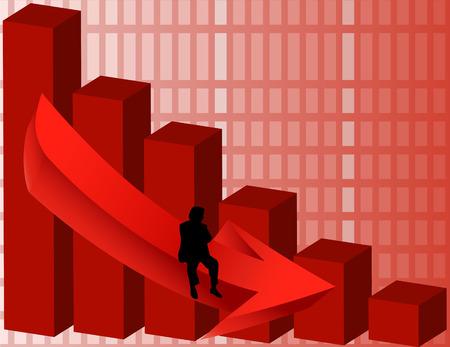 Financial Ruin Vector