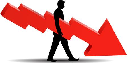 profit and loss: Fallimento finanziario - illustrazione Vettoriali