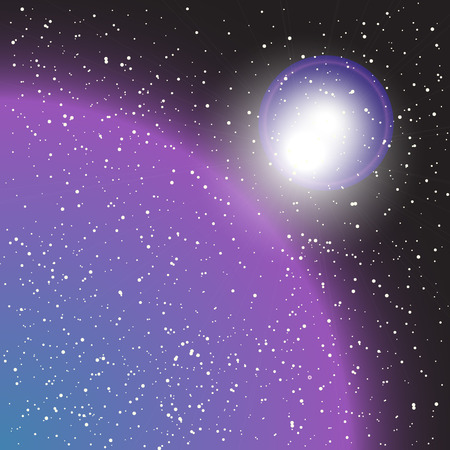 outer space - vector illustration Illustration