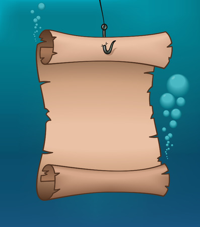 pacific ocean: Underwater Map - illustration Illustration
