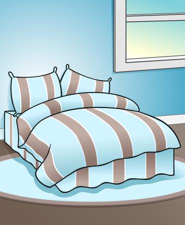 Ilustración de dormitorio