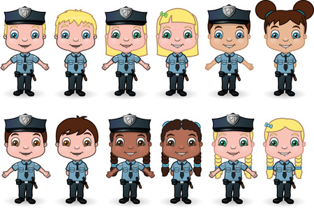 Kid Cops-Set 2  Illustration