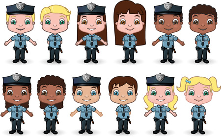 Kid Cops Set 1 Illustration