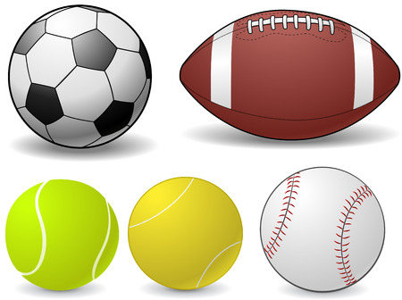 pigskin: Set of sports balls