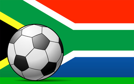 South African Football - vector illustration