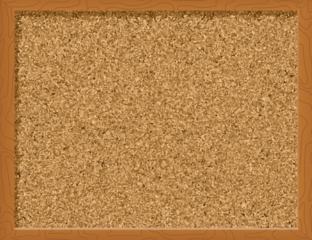 notificar: Corkboard - ilustraci�n vectorial