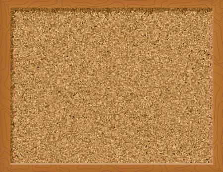 memory board: Corkboard - ilustraci�n vectorial