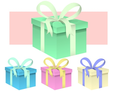 set of presents - vector illustration Stock Vector - 9823433