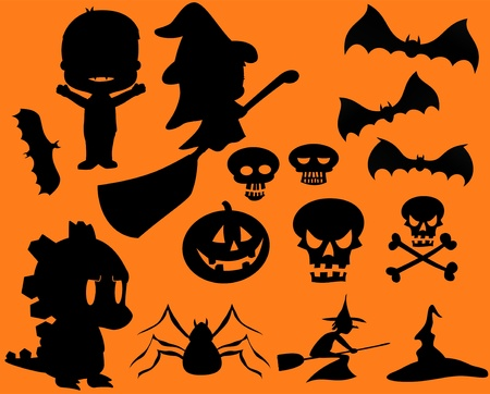 Halloween Vector Silhouette Set Stock Vector - 10983932