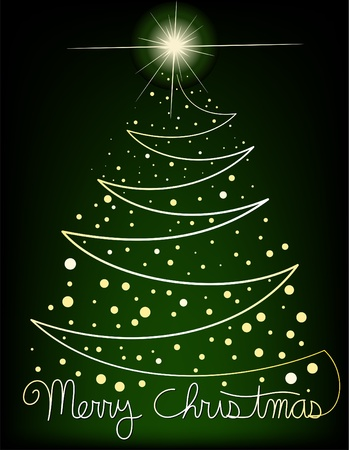 Abstract Christmas Tree Background Stock Vector - 11142786