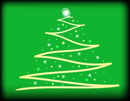 Abstract Christmas Tree Background Stock Vector - 11142788