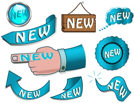 Set of NEW design elements Stock Vector - 11211498