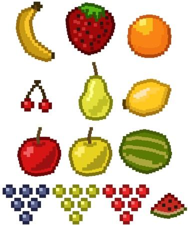 Pixel Fruit  Illustration