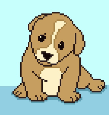 Pixel Puppy Stock Vector - 13563948