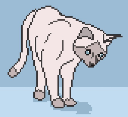 Pixel cat illustration