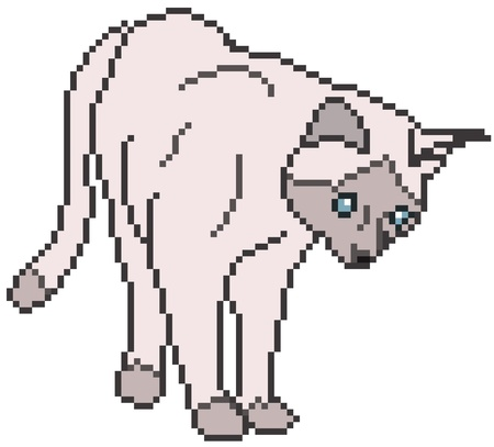 Pixel Cat against white