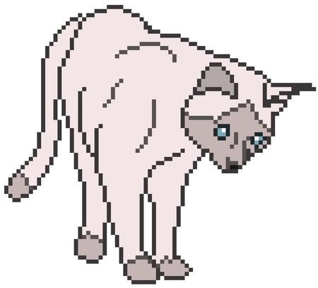 Pixel Cat against white Stock Vector - 13596336